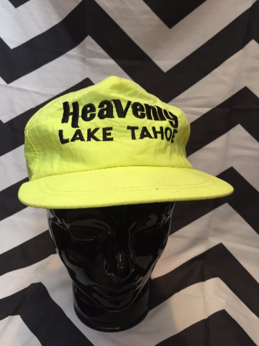 Neon Yellow Lake Tahoe Cap 1