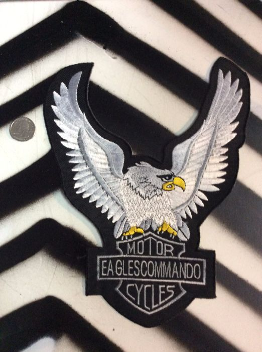 LARGE BACK PATCH- WHITE EAGLE MOTORCYCLES EAGLES COMMANDO 1