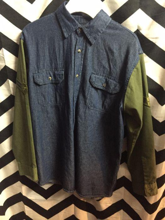 BD LS Military Shirt Denim Sleeves 1