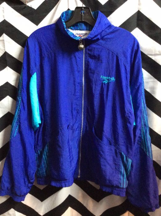 REEEBOK ZIP UP PURPLE WINDBREAKER 1