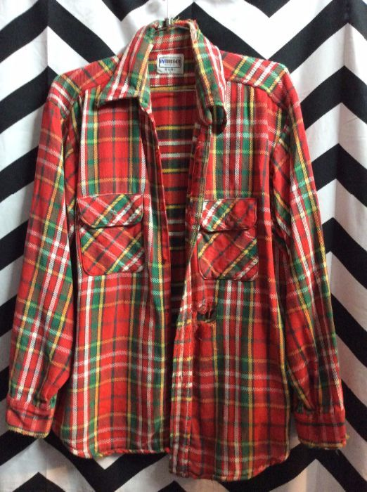 LS BD FLANNEL SHIRT CLASSIC *missing buttons 1