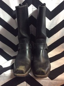 FRYE BLACK LEATHER HIGH BOOTS 1