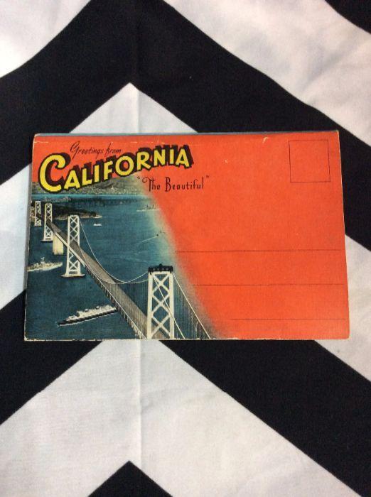 Postcard book greetings from california the beautiful boardwalk unused greeting from california the beautiful postcard book 1 m4hsunfo