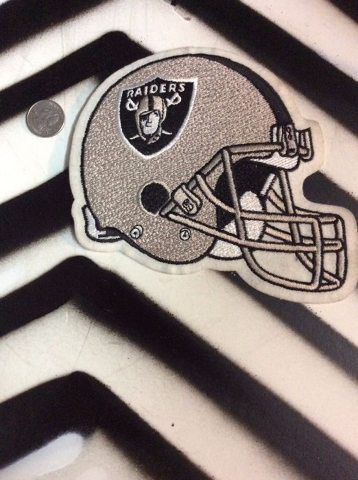 LARGE BACK PATCH- RAIDERS *old stock 1