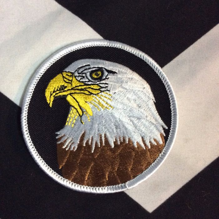 BW Patch- Eagle Portrait Round Patch PM-120 1