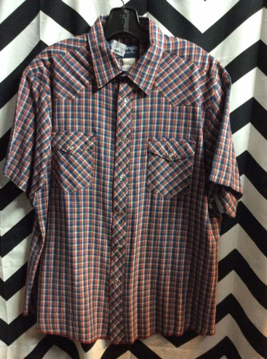 SS BD PEARLY SNAP WESTERN PLAID SHIRT 1