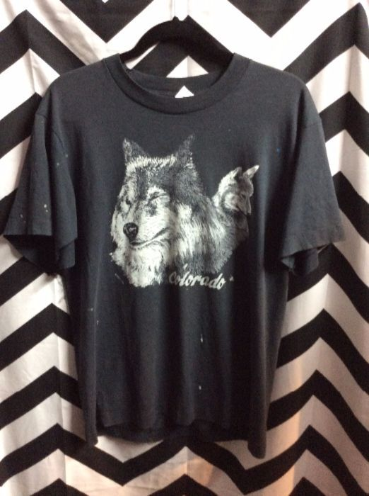 T SHIRT COLORDO WOLF AND CUB as is 1