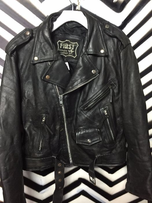 HEAVY LEATHER MOTORCYCLE JACKET WILD BILL EAGLE 1