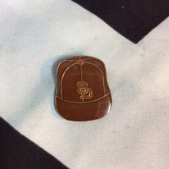 BW PIN - Retro San Diego Logo Vintage CAP 1