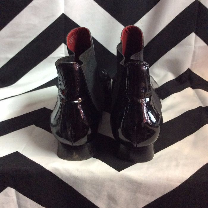 PATENT LEATHER CHELSEA BOOTS 4