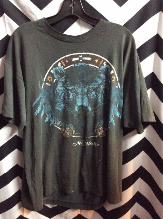 T SHIRT NEW MEXICO AZTEC WOLF 1