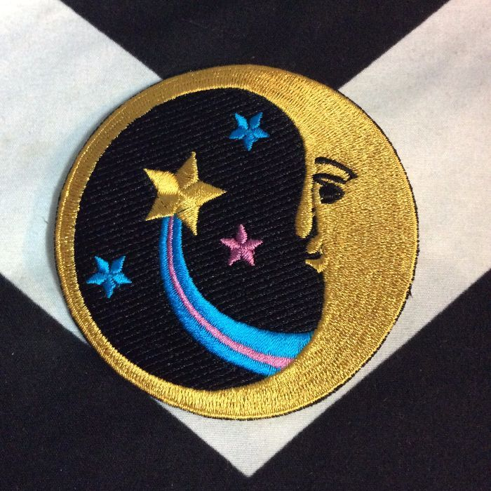 PATCH- RETRO MOON,STARS & COMET *old stock 1