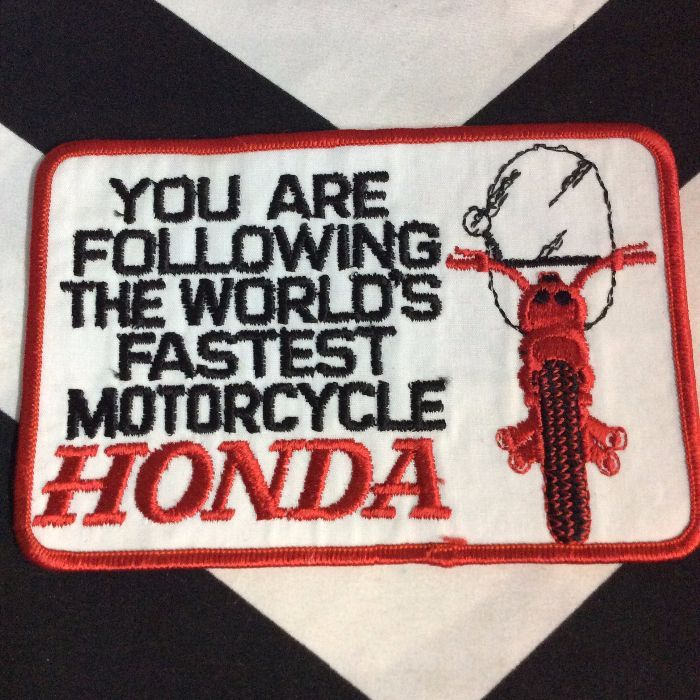 PATCH- HONDA WORLD FASTEST MOTORCYCLE LARGE *OLD STOCK 1
