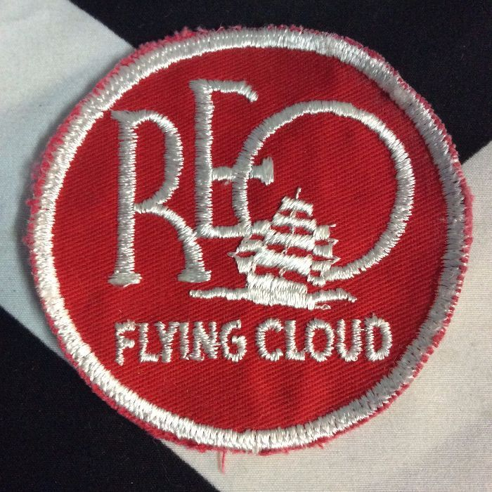 Patch- REO FLYING CLOUD Red *deadstock *old stock 1