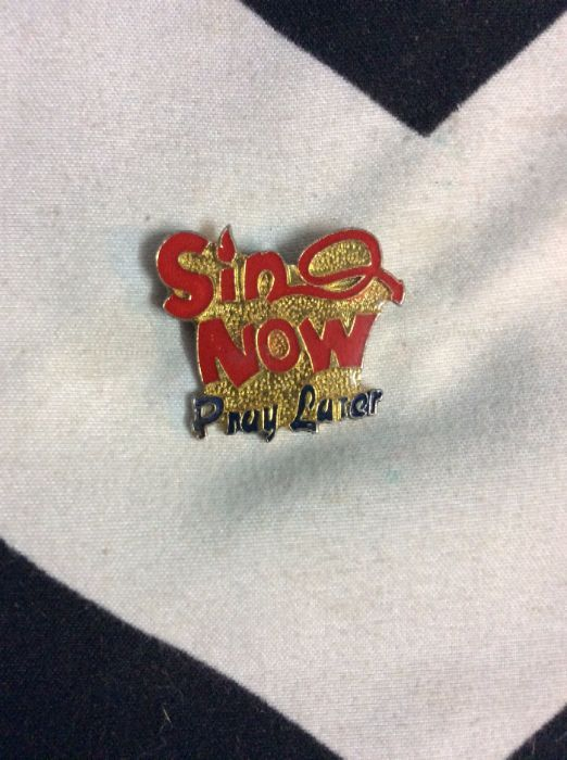 Sin now, Pray later pin with devil tail 1