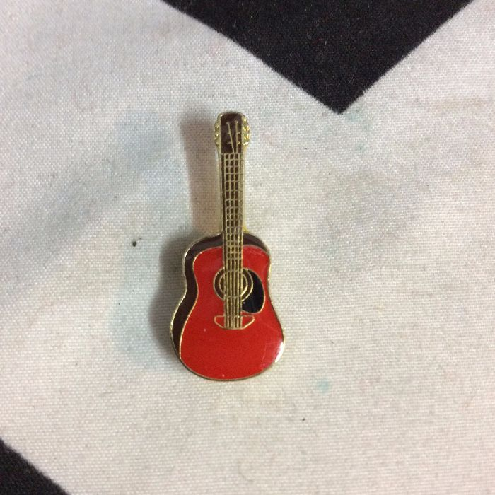 BW PIN- Red Acoustic Guitar- 1918 1
