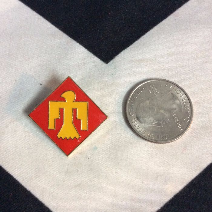 BW PIN- Thunderbird 45th infantry Red Yellow- 867 2