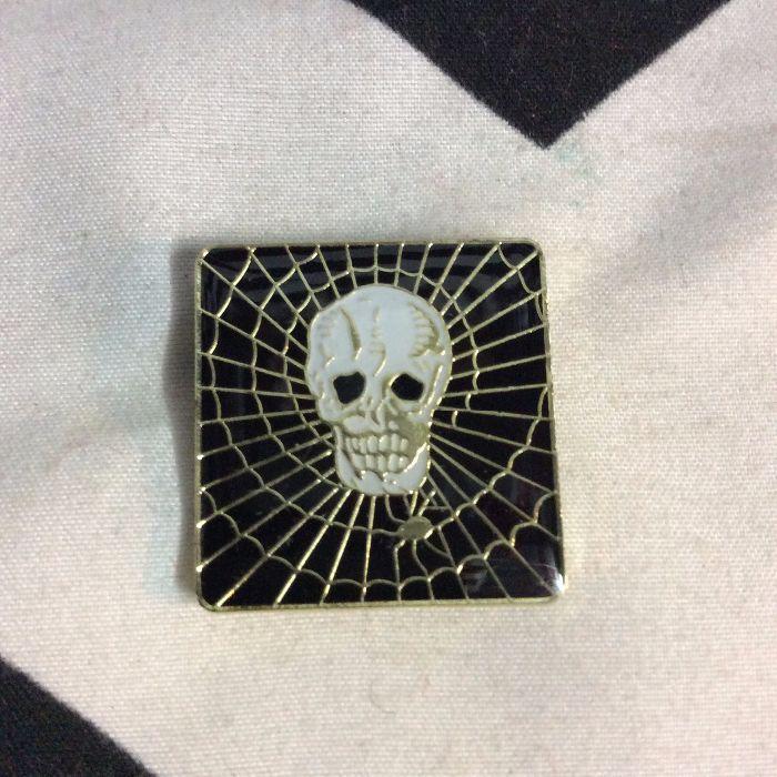 BW PIN- Skull spider- 1817 1