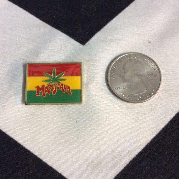 BW PIN- Rasta Flag Marijuana Leaf- 4710 2