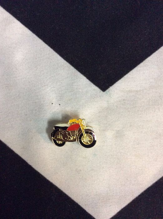 BW PIN- Motorcycle Cafe Racer Orange- 104 1