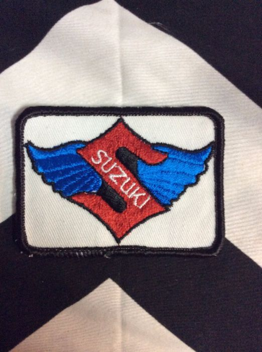 *Deadstock Suzuki EMBLEM Wings Square Patch *old stock 1
