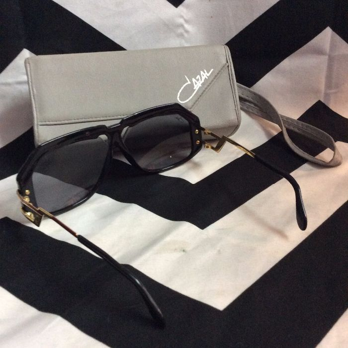 1980S VINTAGE CAZAL SUNGLASSES w/ Original Case 3