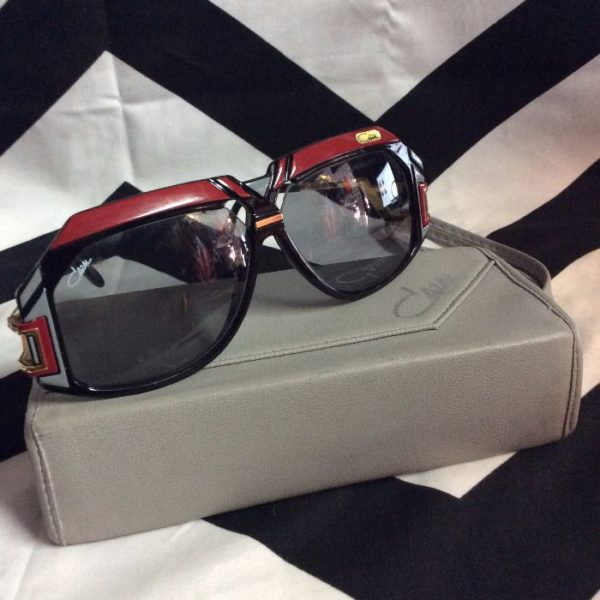 1980S VINTAGE CAZAL SUNGLASSES w/ Original Case 1