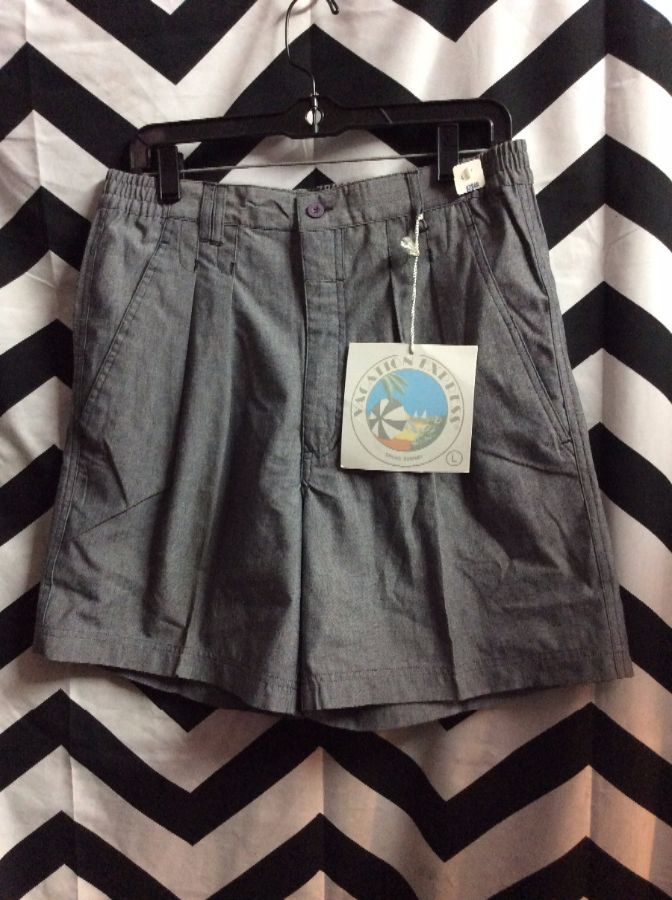 *DEADSTOCK* NWT COTTON SHORTS ELASTC WASIT PLEATED 1