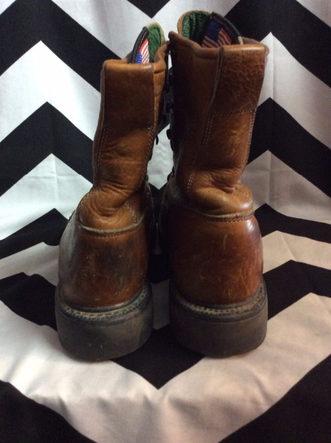 LEATHER LACE UP ROPER WORK BOOTS SIZE 7 2