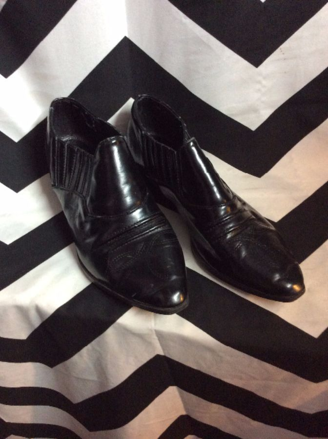 LITTLE STITCHED WINKLEPICKERS LOW COWBOY BOOTS 1
