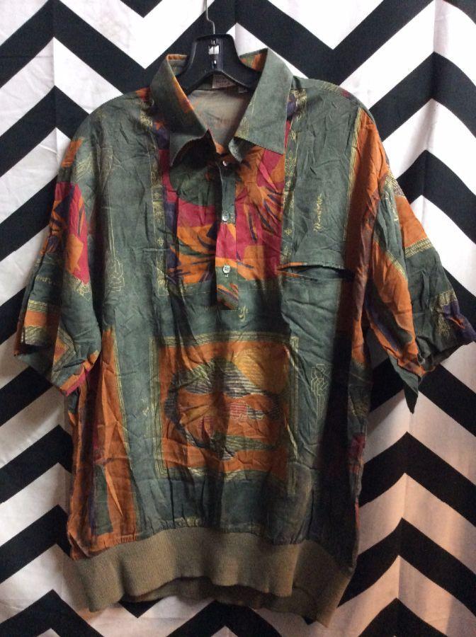SS Pull Over Collar Shirt Artistry Pattern 1