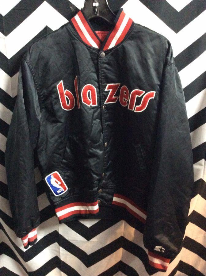 NBA Portland Trailblazers Traditional letter BLAZERS Starter Jacket as-is 1