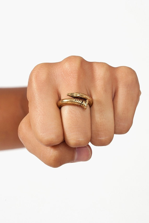 BENT NAIL RING- Classic|thick 2
