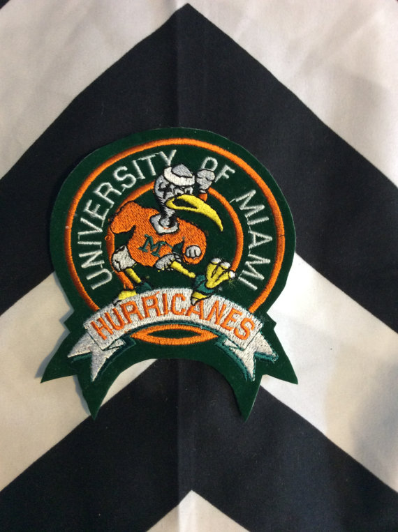SM MIAMI HURRICANES CIRCLE PATCH *DEADSTOCK* 0