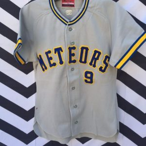 Retro Japanese Baseball Jersey Meteors 1