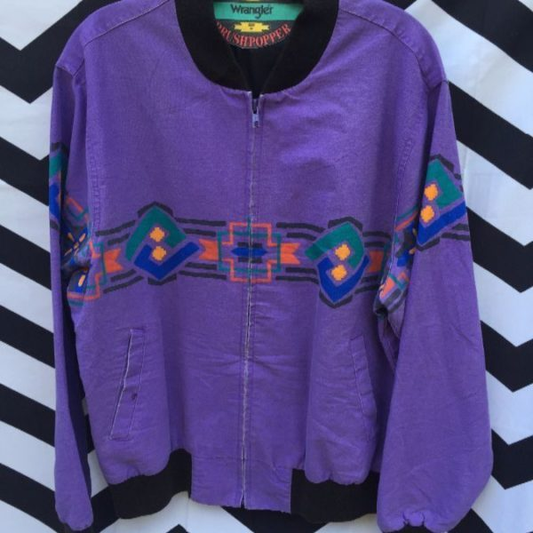 WAXED TWILL JACKET PAINTED AZTEC GRAPHICS 1