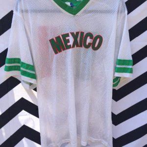 SOCCER JERSEY MESH RINGER MEXICO 1