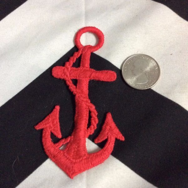 BW PATCH RED NAUTICAL ANCOR 2