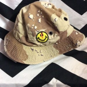 BUCKET HAT DESERT CAMO with Patches 1
