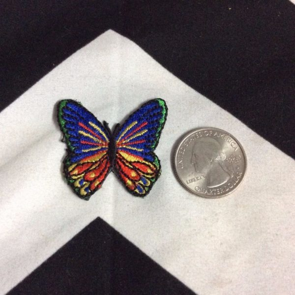 BW PATCH SMALL BUTTERFLY BLUE YELLOW RED 2