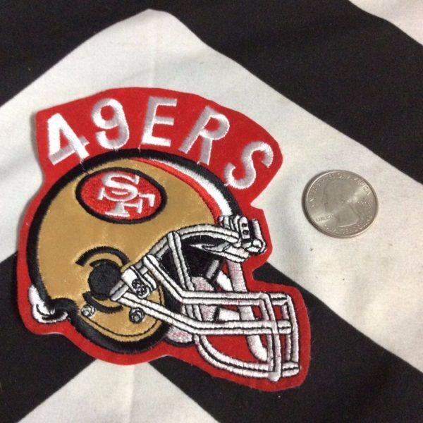 BW PATCH SF 49ERS HELMET GOLD RED WHITE 2