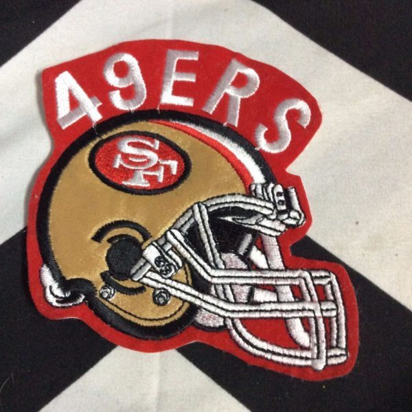 BW PATCH SF 49ERS HELMET GOLD RED WHITE 1