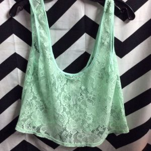 LITTLE CROPPED LACE TANK TOP 1