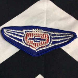 PATCH CHEVY WINGS BLUE RED *deadstock 1