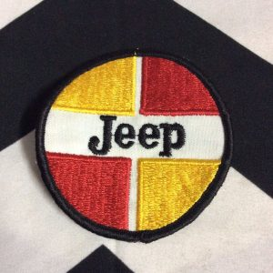 PATCH JEEP RED YELLOW CIRCLE *deadstock 1