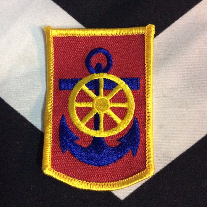 BW Patch- Blue Anchor Yellow Wheel Patch PM-143 1
