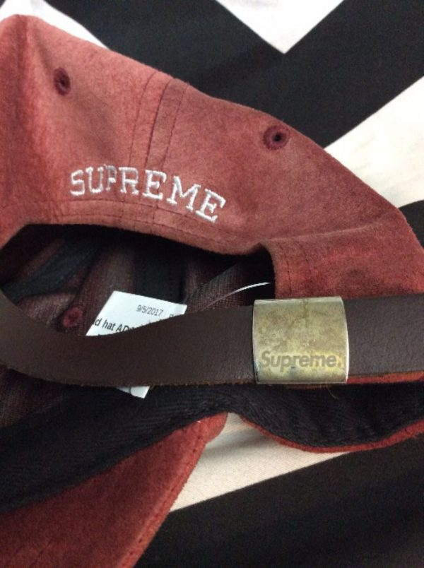 Supreme hat SUEDE dad hat 3