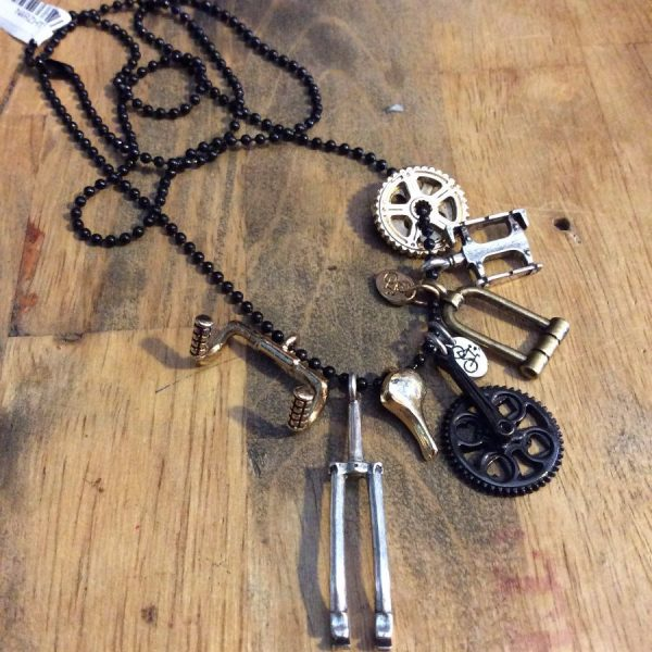 THE AMSTERDAM BIKE PILE MULTI CHARM BIKE PART NECKLACE 2