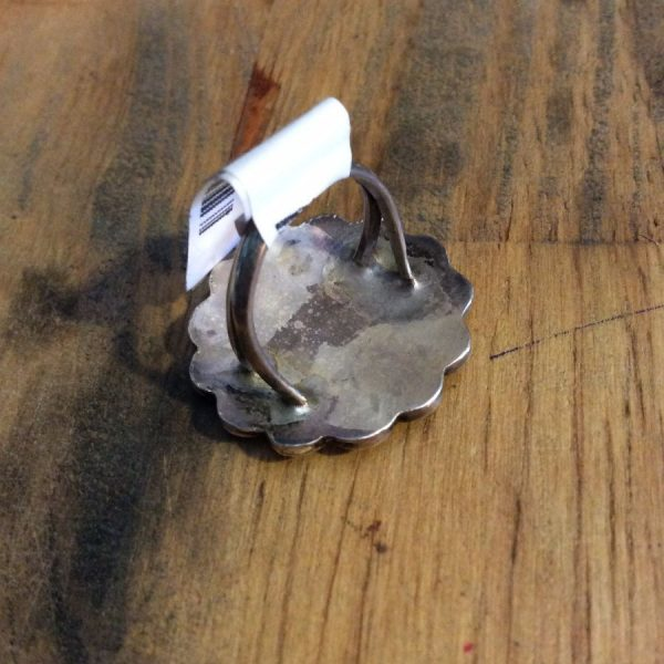 Zuni Inlay SUNFACE RING Sterling Silver 925 2
