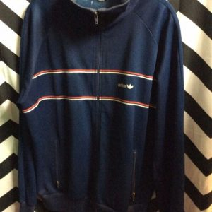 RETRO ADIDAS TRACK JACKET FRONT STRIPE as-is 1